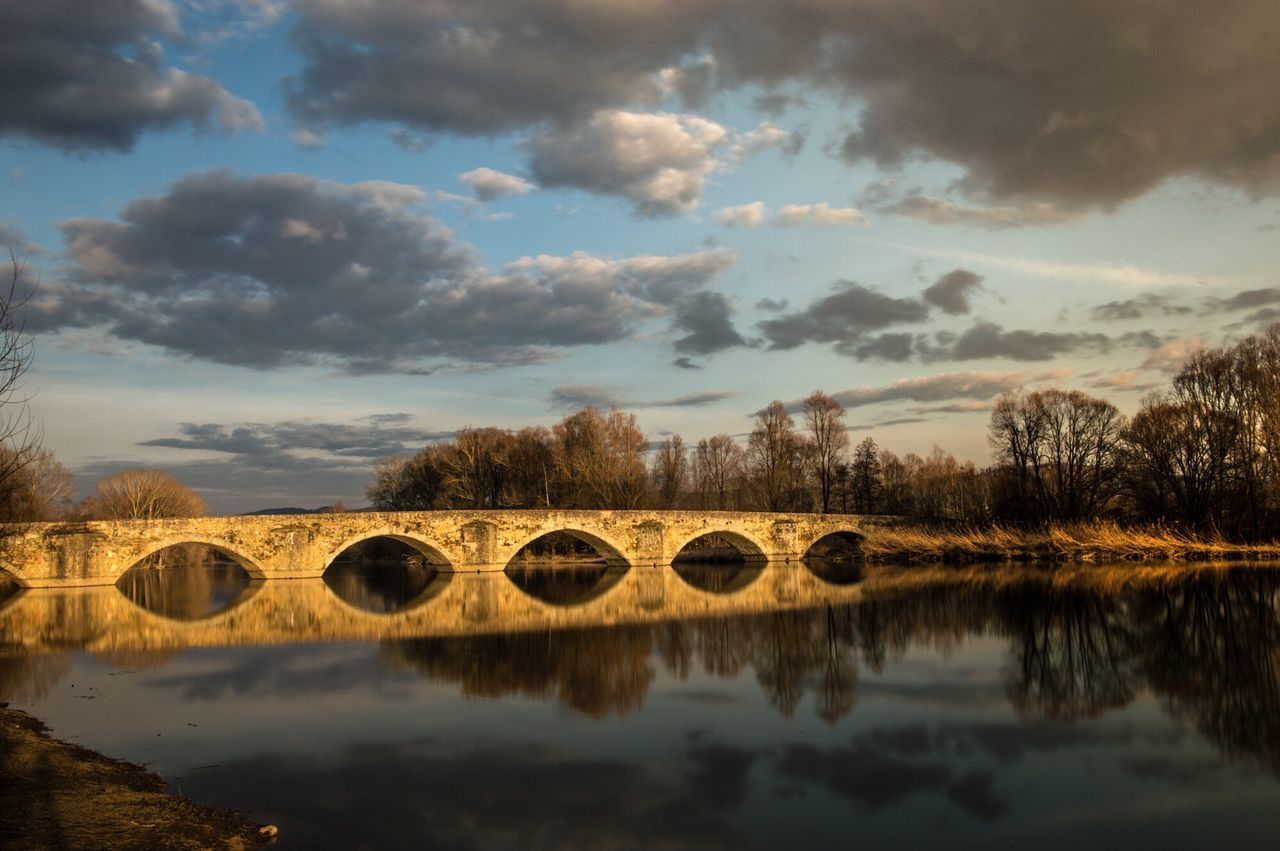 Bridge - Man Made Structure Reflection Beauty In Nature Architecture Sky And Clouds Geometric Shape No People Environment Emotion Tranquil Scene Landscape Riverside Picoftheday EyeEmNewHere