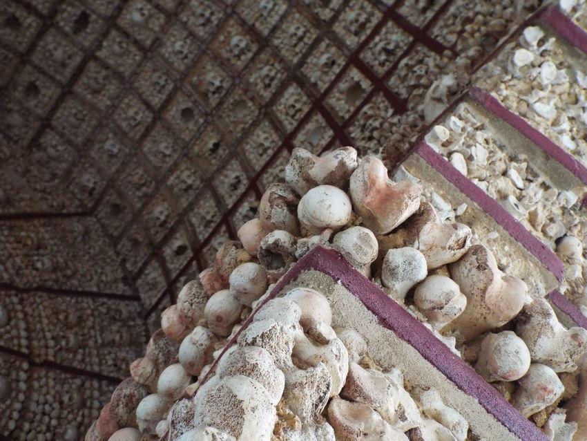 Capela de Ossos Bone Chapel in Faro, portugal. Bone  Bones Faro Femur Femurs Human Bones Ossuary Portugal Skull Skulls And Bones