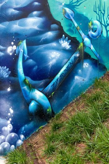 Green Color Day Blue High Angle View Full Frame No People Close-up Outdoors Nature Kero Graffiti Wall Graffiti & Streetart Graffiti Art Graffiti Painted Image KeroArt