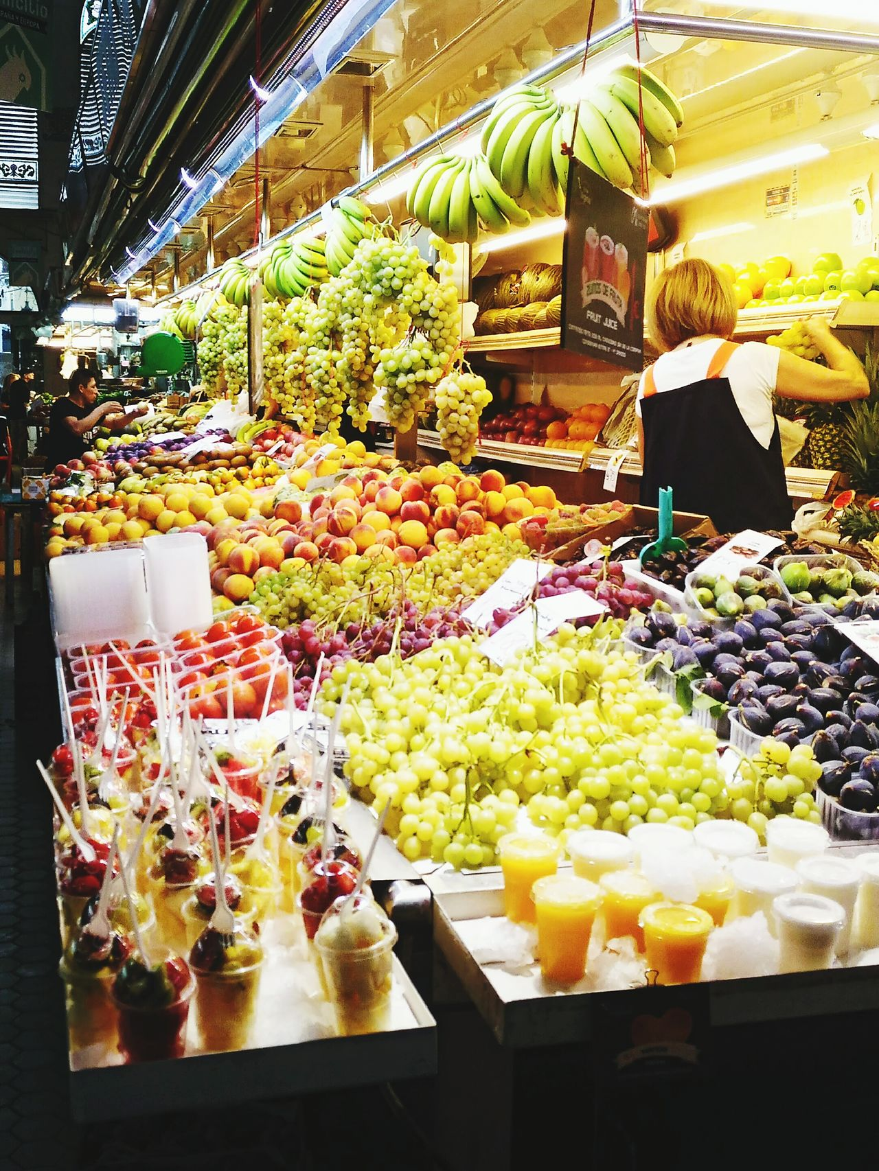 Fruit Food Market Variation Healthy Eating Freshness Choice Business Indoors  Supermarket Day Valencia, Spain Mercado Central De Valencia.