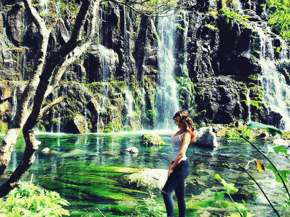 Adventure Adventure Time Adventures Bamboo Grove Beautiful Beauty In Nature Canions Day Full Length Girls Growth Leisure Activity Lifestyles Motion Nature One Person Outdoors Real People Rear View Standing Tree Water Waterfall Women