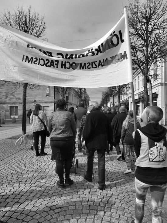 Demonstration Jönköping, Sweden United against Racism and fasism! 1 000 people walked in the march ☺.