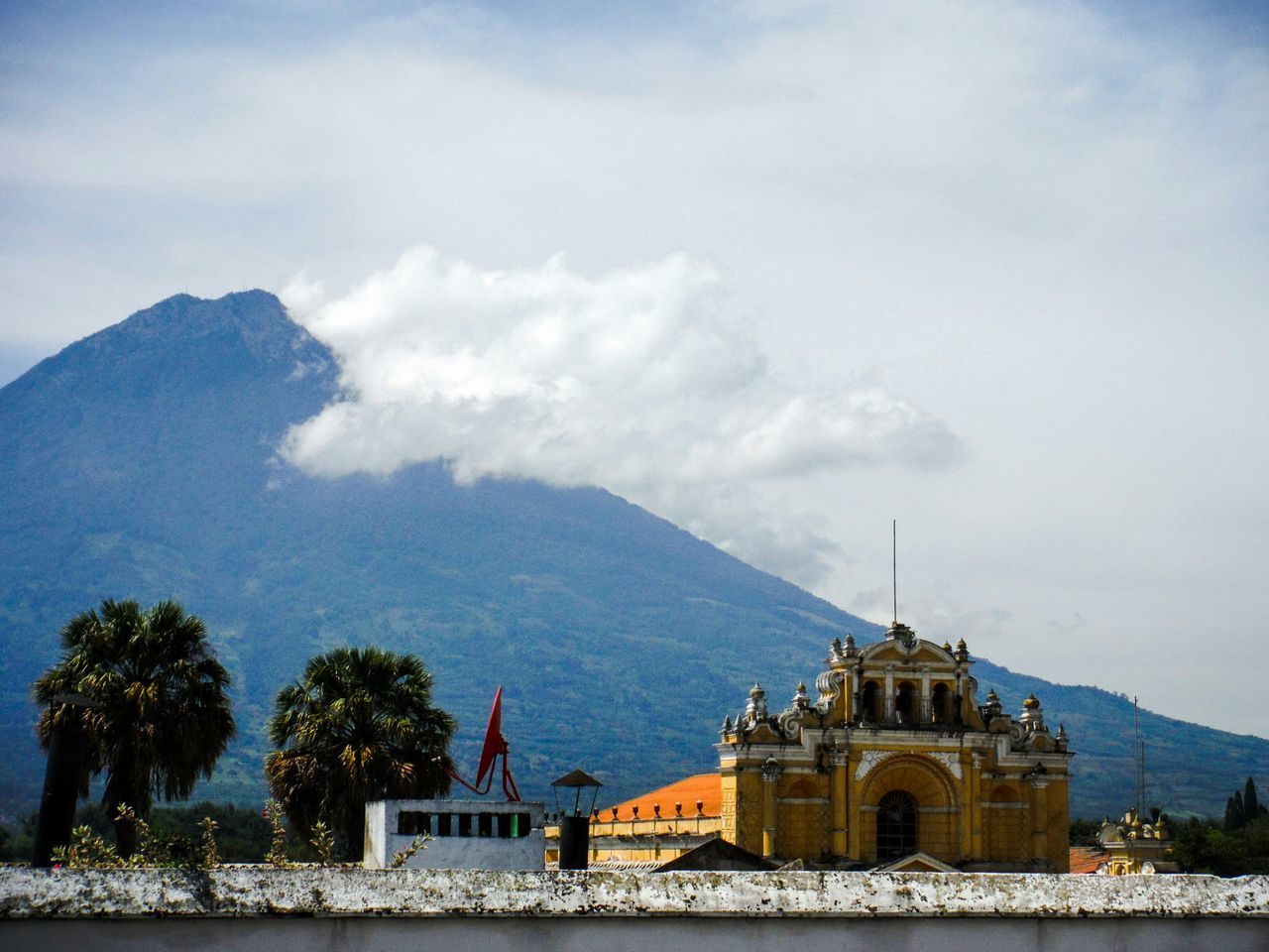 Antigua, Guatemala. Rooftop View  Volcano Old Church Antigua Guatemala Antigua, Guatemala Travel Photography Travel Destinations Vacation Destination Guatemala Antigua Roof Top View  Rooftop Photography Colonial Architecture Colonial Style Colonial Spanish Style Catholic Church Catholicchurch Spanish Architecture Picturesque Showcase July Rooftop Scenery Fujifilm Finepix Xp60