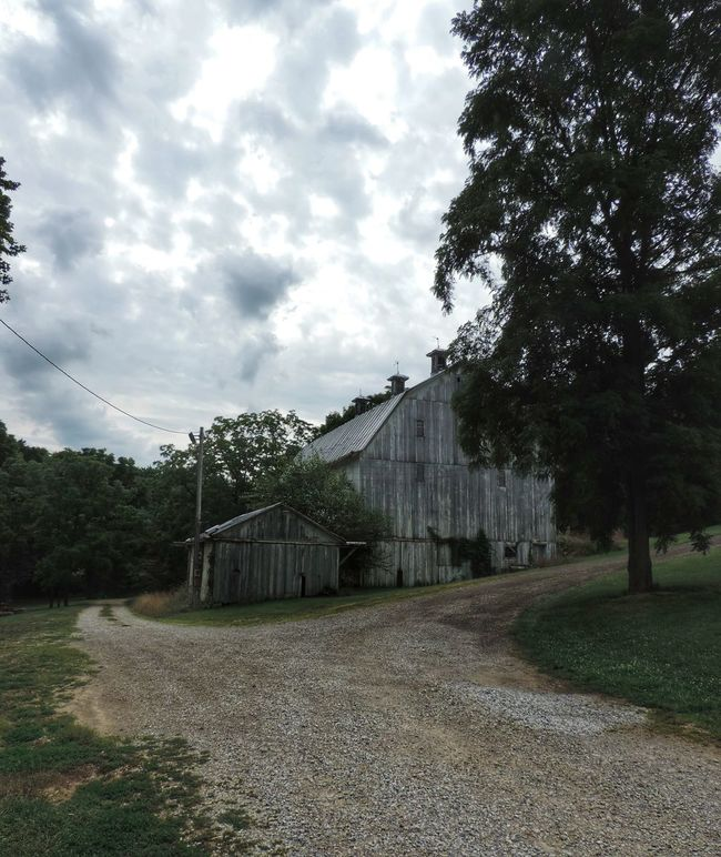 Barn Built Structure Cloud Day Grass Landscape Nature No People Ohio Outdoors Rural Exploration Rural Scene Rurex Sky Tranquil Scene Tranquility Tree Wood