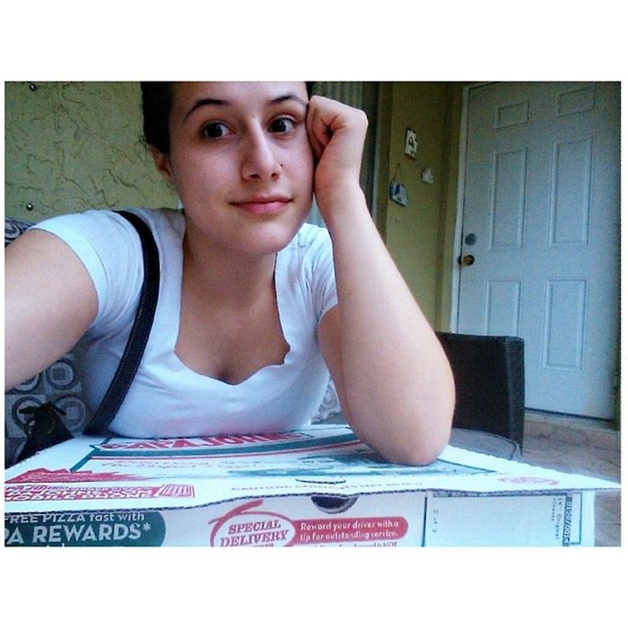 Whole box of pizza to myself cause no one wants to open the door for me. Allgood