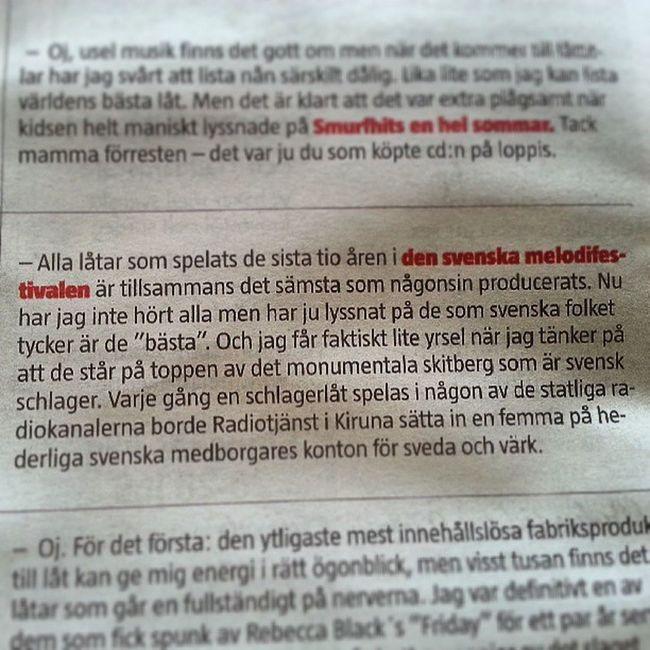 Kan vara bästa panelsvaret på länge. Johan Jönsson, anfallare Brunflo IK angående världens sämsta låt och vilken det är.100 % östersund Melodifestivalen BrunfloIK Radiotj änst