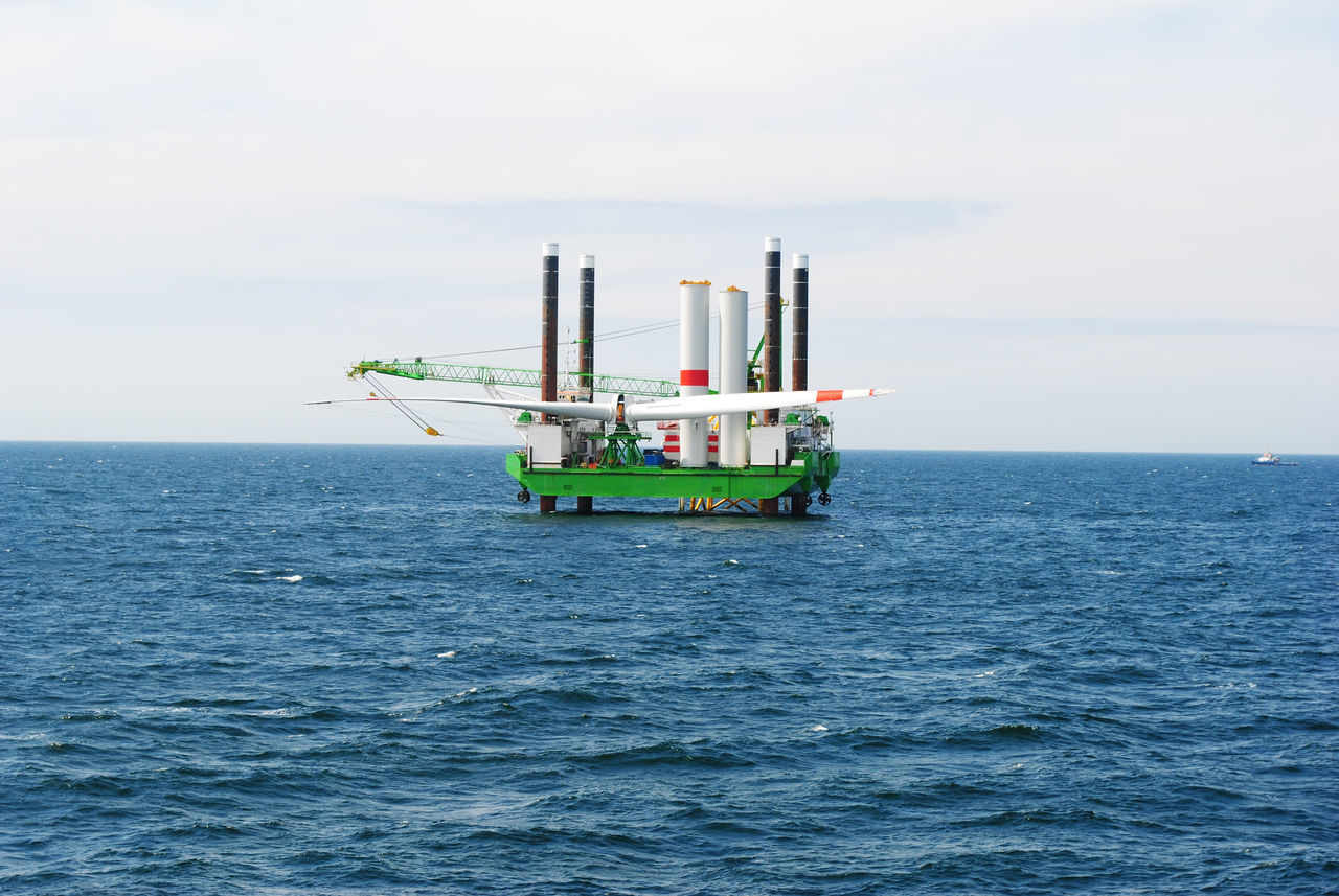 sea, oil industry, industry, water, horizon over water, waterfront, offshore platform, drilling rig, fuel and power generation, sky, outdoors, day, nature, no people, scenics, oil pump