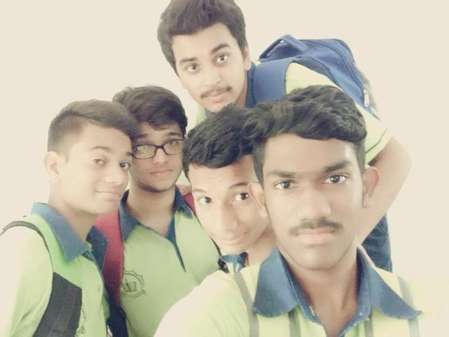 group of crew(friends) in social service camp at school