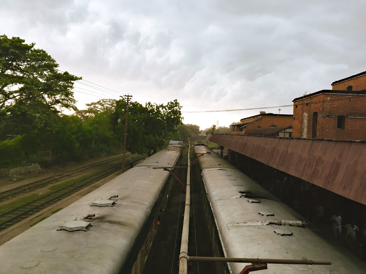 Trains Sky Cloud - Sky Outdoors No People Tree Built Structure Architecture Building Exterior Day Nature EyeEm Traveling EyeEm Travel Photography Bangladesh Travel Photography Traveling The World Travel Nature Cloud Clouds And Sky Cloudy Cloudscape Train Station Train Station Clouds