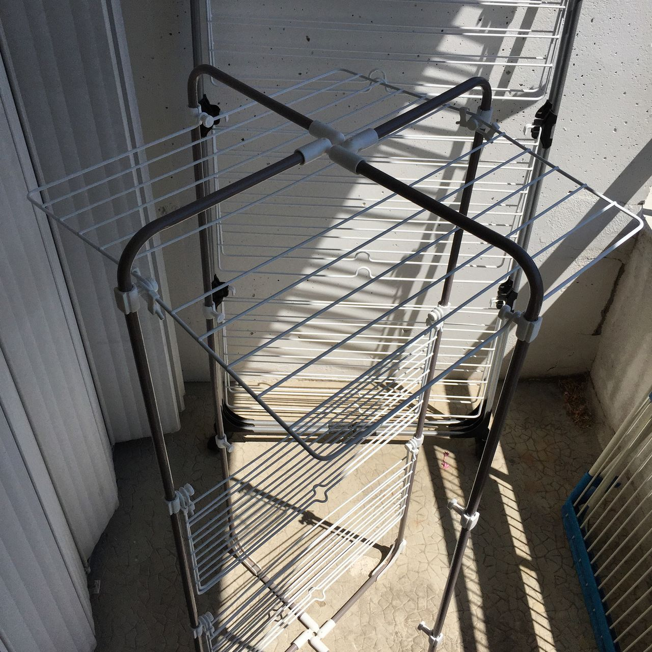 High Angle View Of Metal Structure Indoors