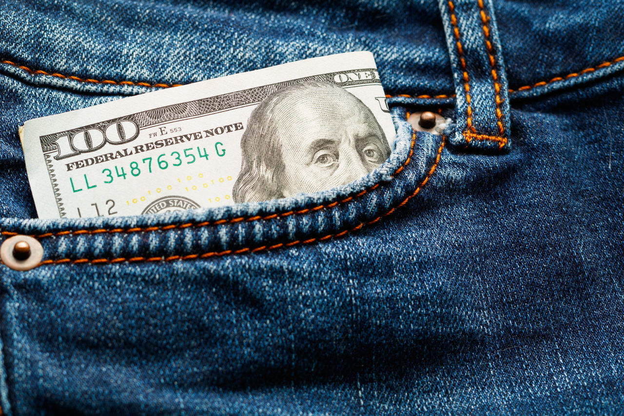 Close-up Currency Jeans No People Paper Currency Pocket  Wealth