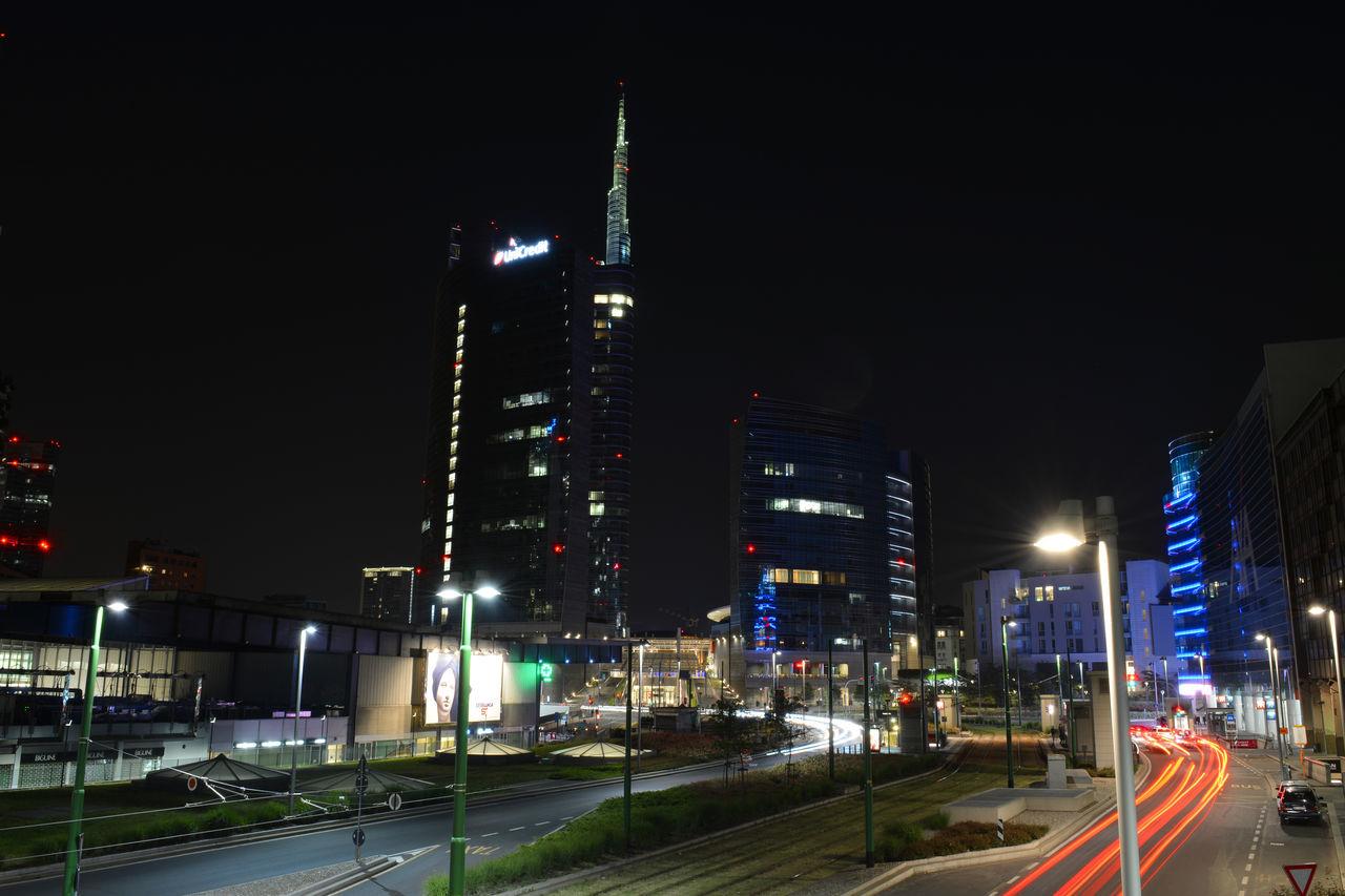 Cities At Night Lightpainting Lights Milan Milano Nikon Sky Urban Night