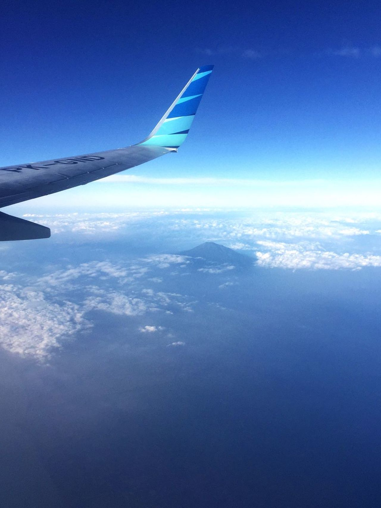 Mount Slamet View From 35.000 ft Airplane Aerial View Blue Airplane Wing Transportation Sky Journey Nature No People Travel Flying Beauty In Nature Cloud - Sky Day Air Vehicle Mid-air Scenics Outdoors Landscape Water EyeEmNewHere Be. Ready.