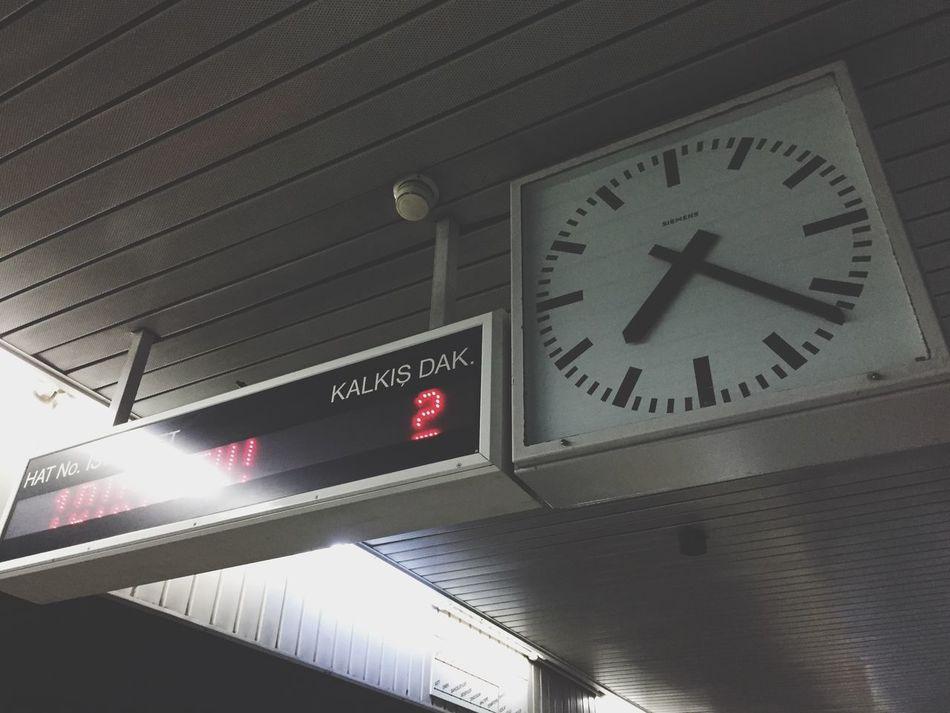 Ankara Tandogan Metro Underground Clock
