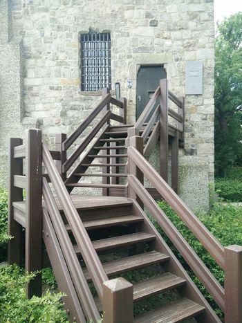 Vacation Belgium Building Cobblestone Door Black Door Staircase Badge Coat Of Arms Grill