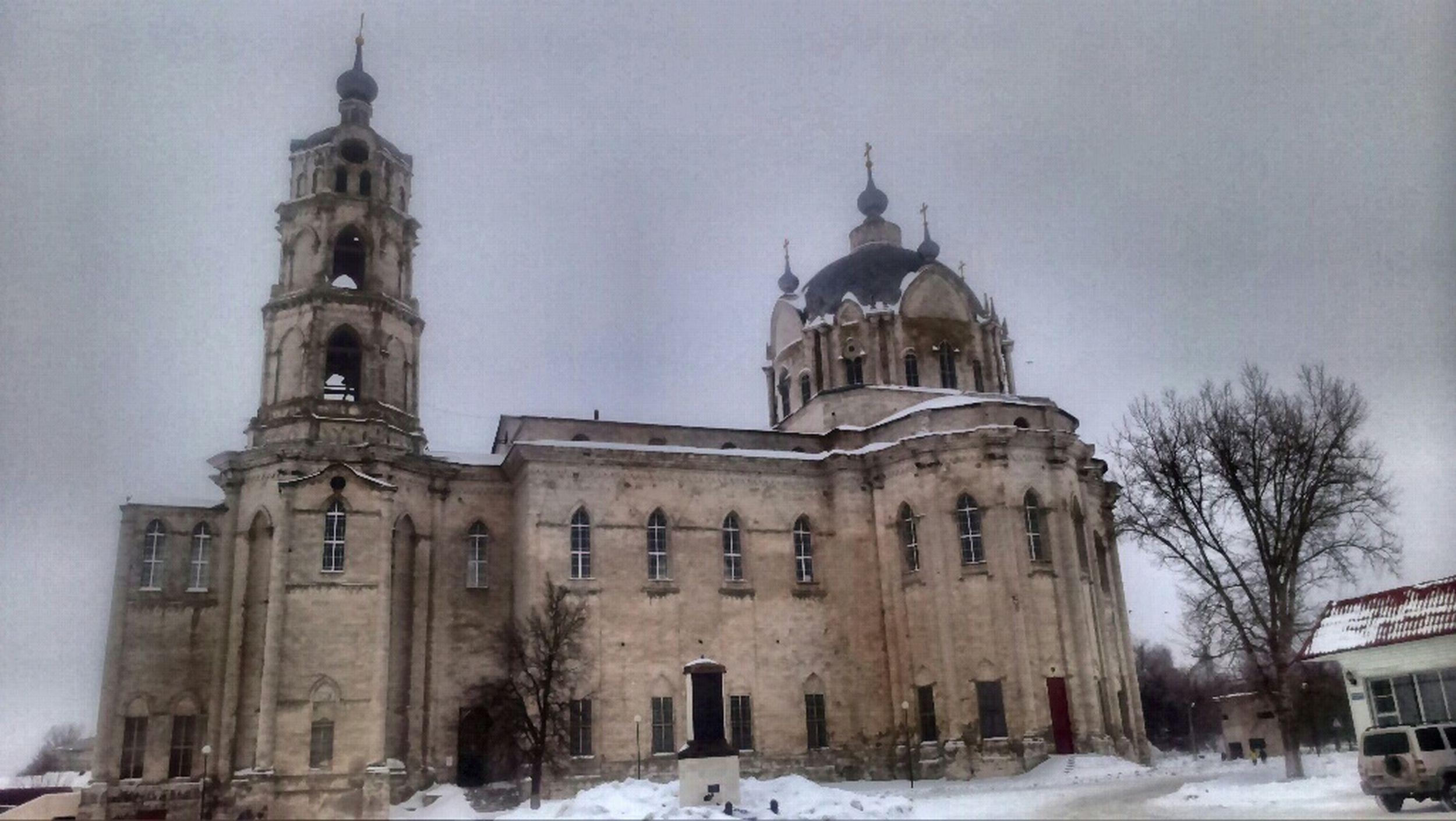 Temple Gus' Zheleznyy Winter Psevdogotika Baroque Classicism