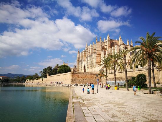 Architecture Travel Destinations Tree History Cloud - Sky Old Ruin Sky People Building Exterior Day Outdoors Adult Pyramid Water Ancient Civilization Palma Palma De Mallorca Sea Beach SPAIN Baleares PalmaDiMaiorca Adults Only Only Men Politics And Government