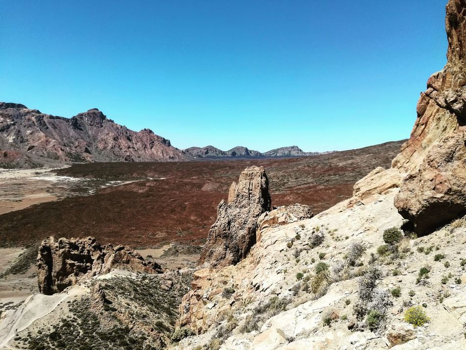 Desert Landscape Blue Nature Outdoors Clear Sky Arid Climate Mountain Sky No People Day Large Group Of Animals Sand Dune Vacations Travel Destinations Picoftheday Vacance España Tenerife Teide Volcano Teide National Park Teide 2017 Pic Nature