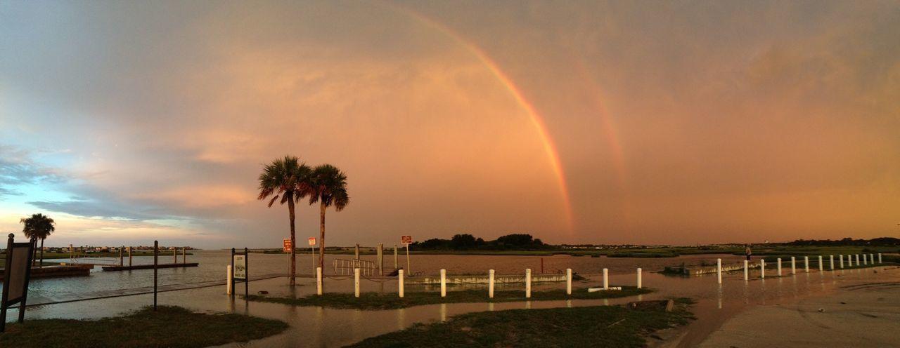 Beautiful stock photos of rainbow, Beach, Beauty In Nature, Cloud - Sky, Double Rainbow