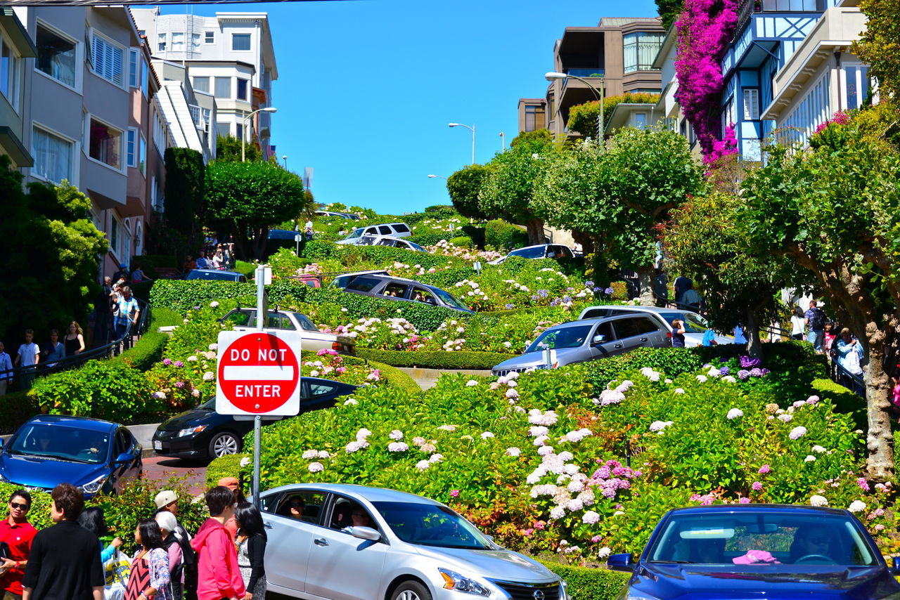 Lombard Street San Francisco Short Short Road Turning Turning Road