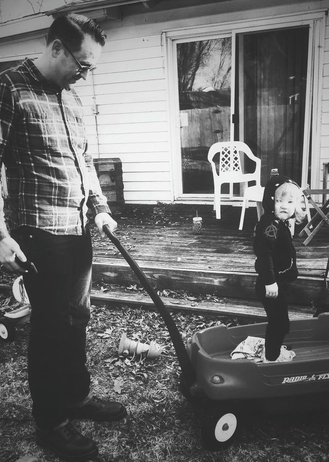 Blackandwhite Father And Daughter Good Parenting
