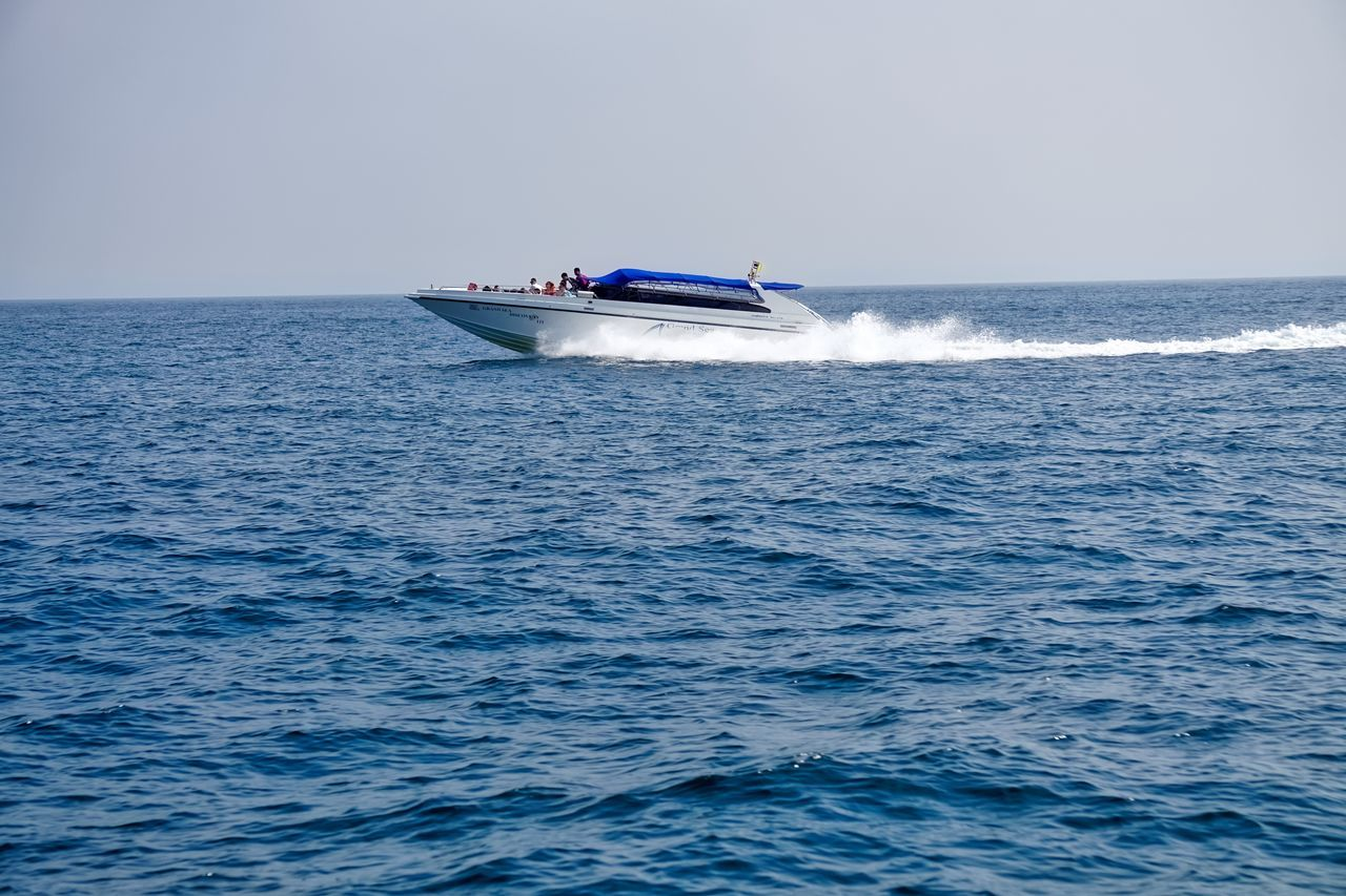 Aquatic Sport Day Mode Of Transport Motion Nature Nautical Vessel Outdoors Sailing Sea Sky Speed Speedboat Transportation Vacations Water Yacht Yachting
