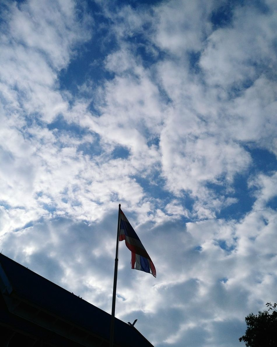 Proud to be Thai Flag Cloud - Sky Sky Low Angle View No People Outdoors Day Patriotism