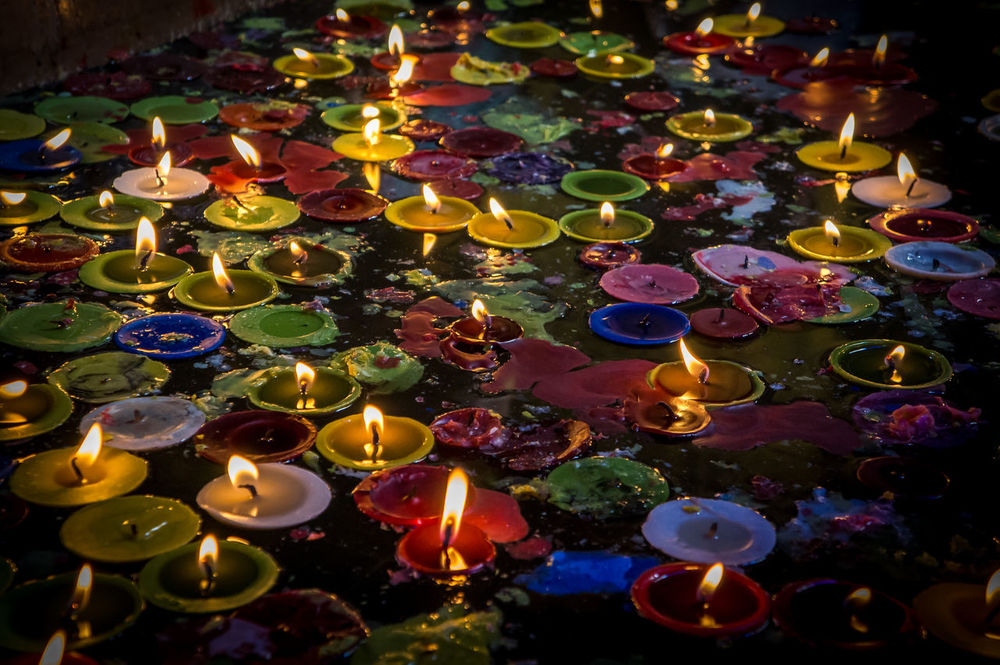 Votive Candles/ Taken during the Sto. Nino feast. Celebration Church Colorful Cultures Faith Multi Colored Pray Prayer Tradition Traditional Festival Voyage Colour Of Life