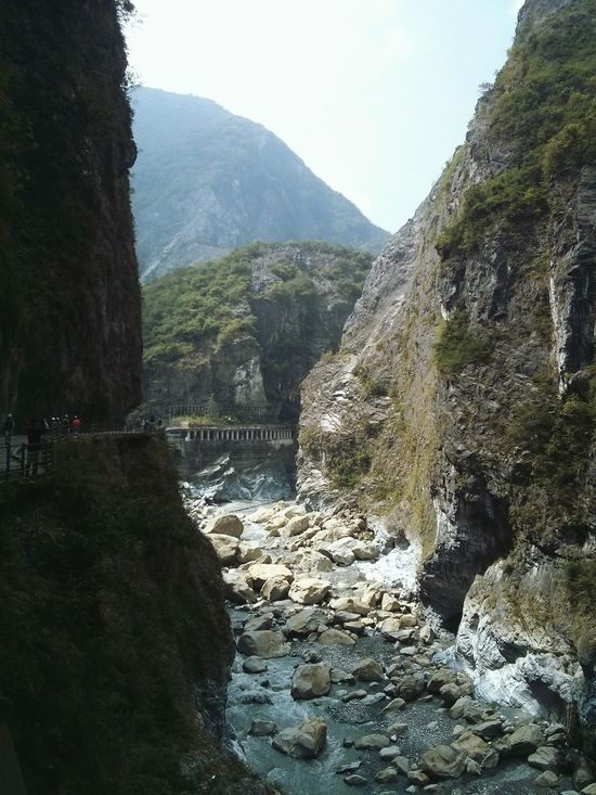 Taroko National Park, Taiwan. · Gorge Valley River Nature Landscape