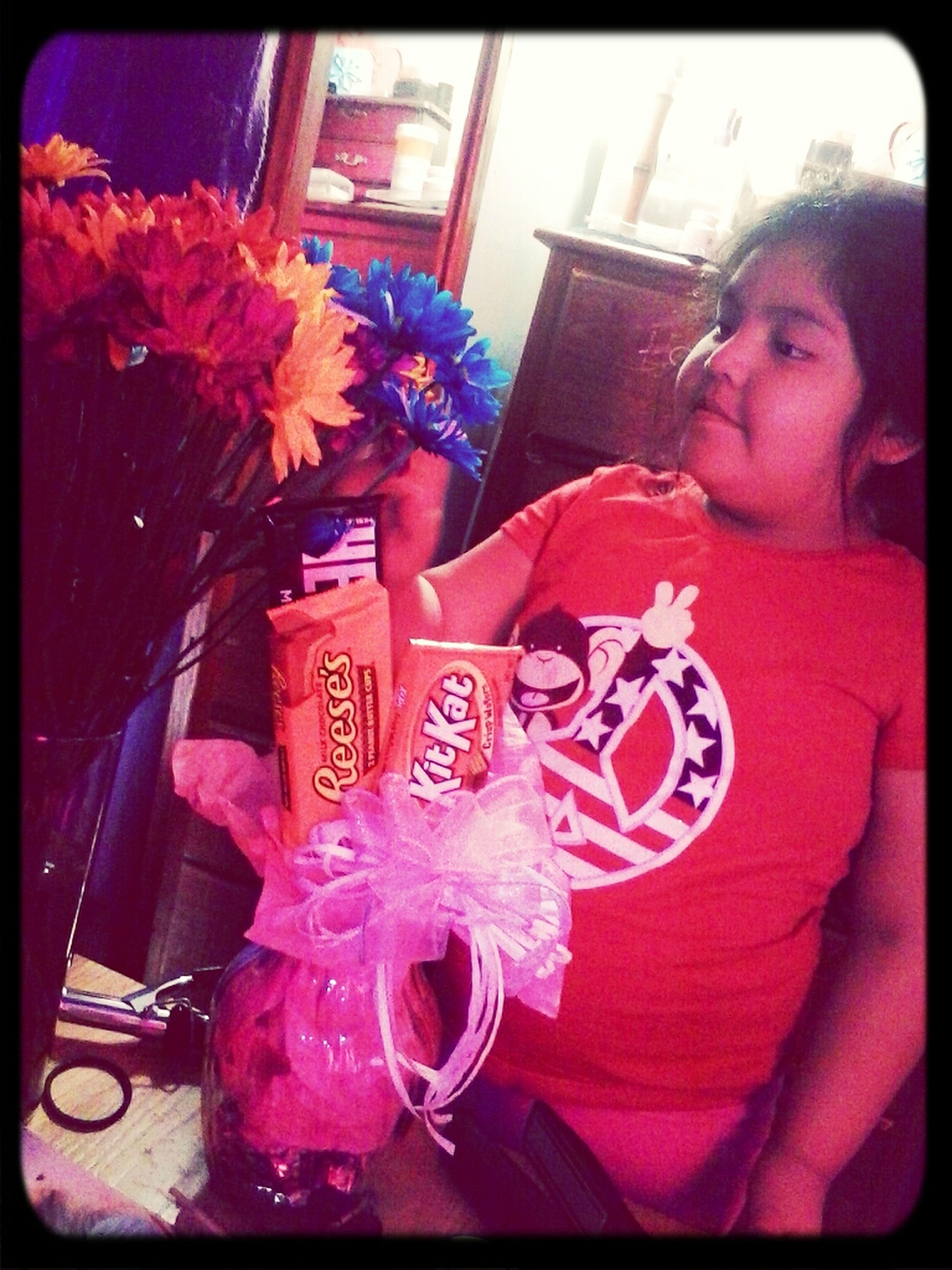 Ruth loves the flowers I got lol