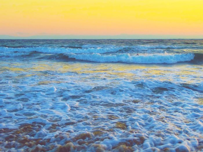 Sea Horizon Over Water Scenics Beauty In Nature Wave Sunset Water Tranquility Seascape Sky First Eyeem Photo