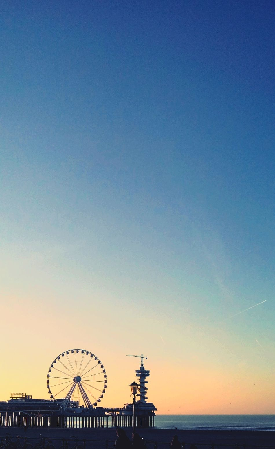 Beach Beauty Ferris Wheel Sea Amusement Park Rollercoaster Outdoors Sky No People Nature Scenics Day Eye4photography  Clear Sky Travel Destinations EyeEm Best Shots - Landscape Eyeemphotography EyeEmNewHere Tranquility Nature Photography Dutch Sunset