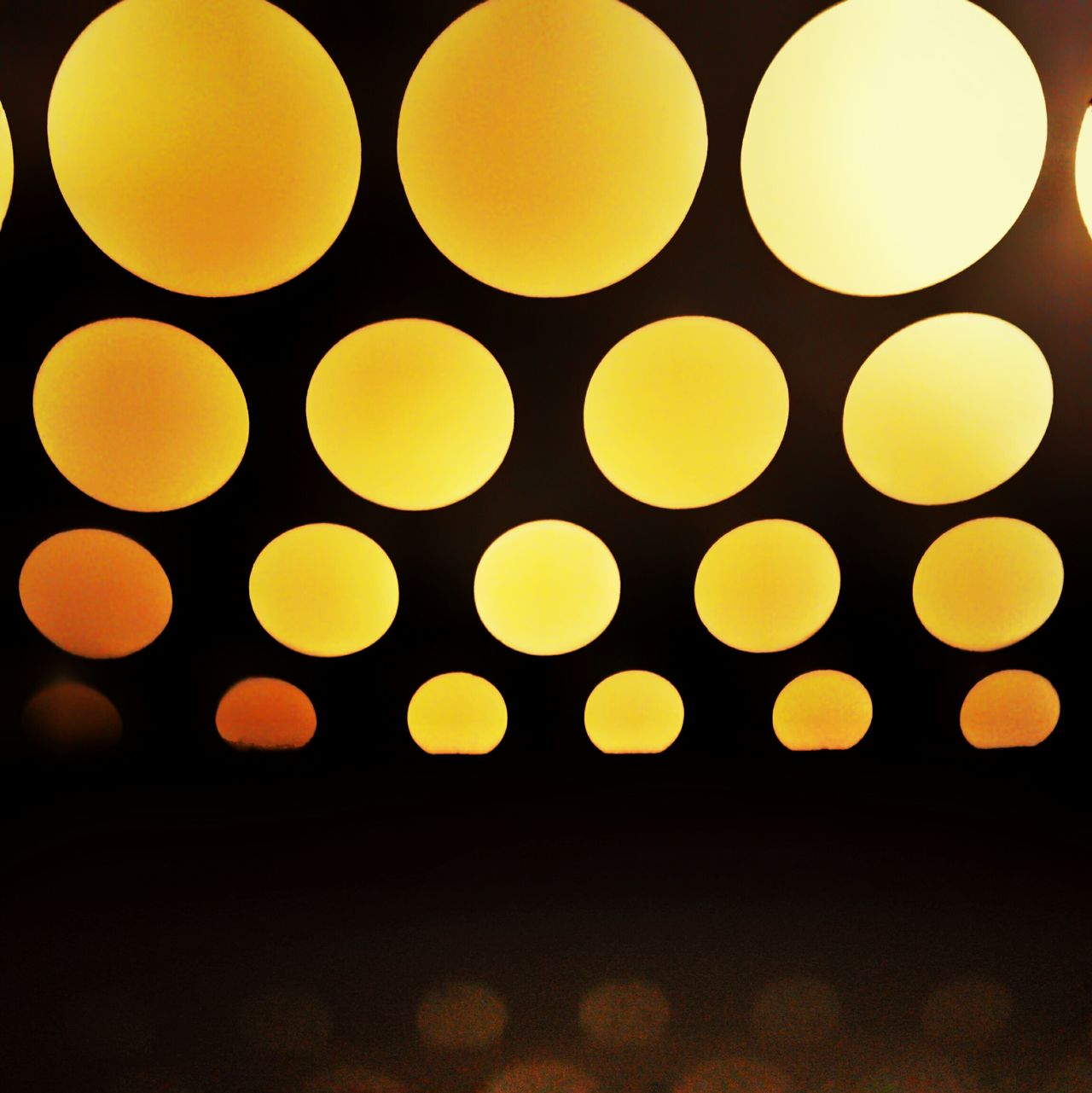 Circle No People Backgrounds Black Background Close-up Indoors  Freshness Abstract Pattern Gradient Circles Minimalism Light Source Projection Reflection Minimal Monochrome Blackandorange Sequence