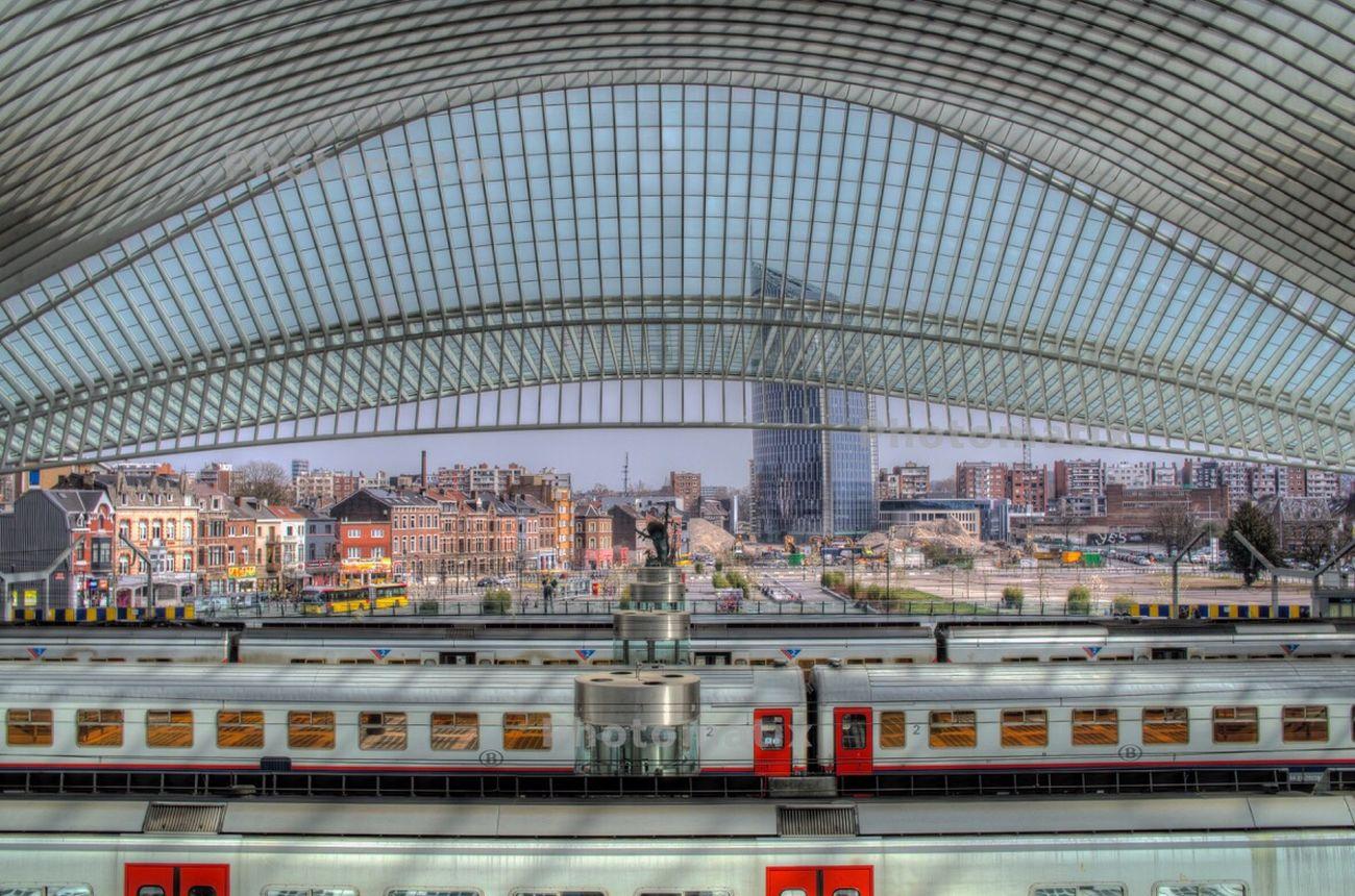Vue sur la ville Gare De Guillemins Liège-guillemins Liège Belgium Architecture Pentax Manfrotto Playing with Photomatix