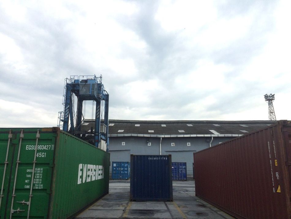 Sky Built Structure Architecture Cloud - Sky Building Exterior Outdoors Day No People Industry Northport Port Klang Container Container Ship