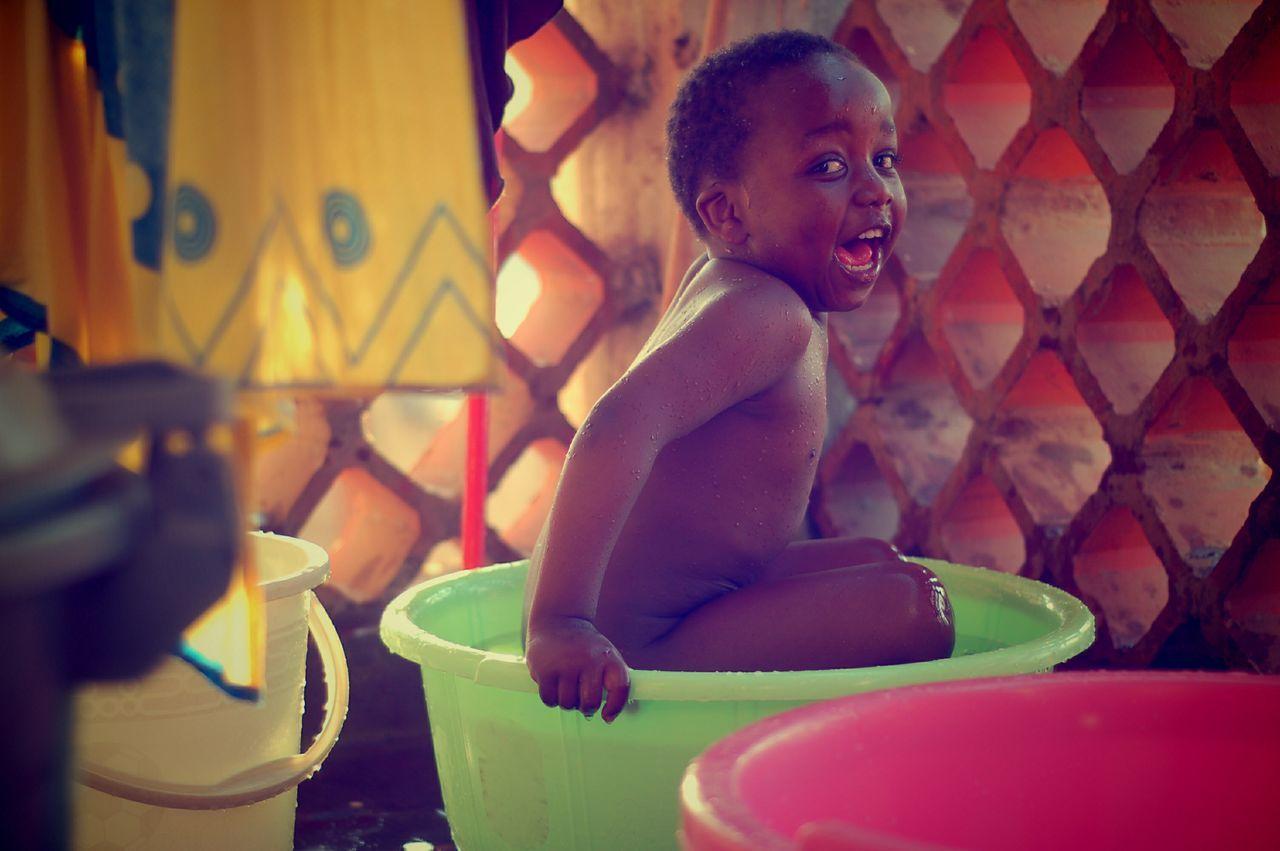 Beautiful stock photos of nude, African Ethnicity, Bathing, Boys, Bucket
