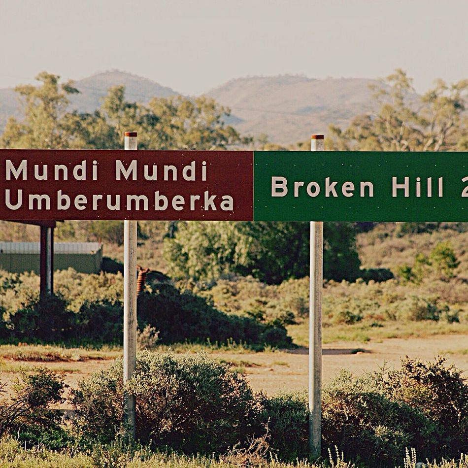 outback New South Wales Road Sign Country Brocken Hill