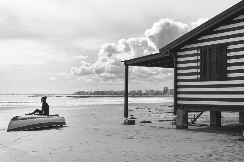Beach Cloud - Sky Horizon Over Water Taking Photos EyeEm Gallery Bnw_collection Black And White Collection  EyeEm Best Shots - Black + White Bnw_planet Bnw_demand Bnw_captures