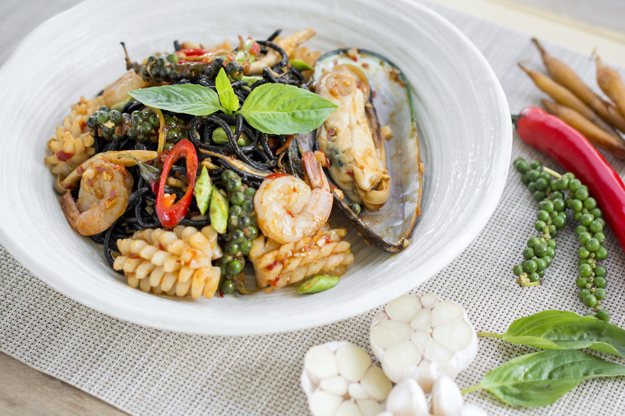 Chilli Drunken Food Food And Drink Freshness Healthy Eating Mussel Pasta Seafood Spaghetti Spice Spicy Taste