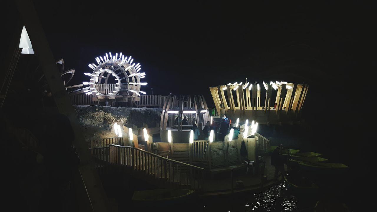 Turda Salina ///// My Beautiful Country 🤠 Night Illuminated Arts Culture And Entertainment Built Structure People Neon Life