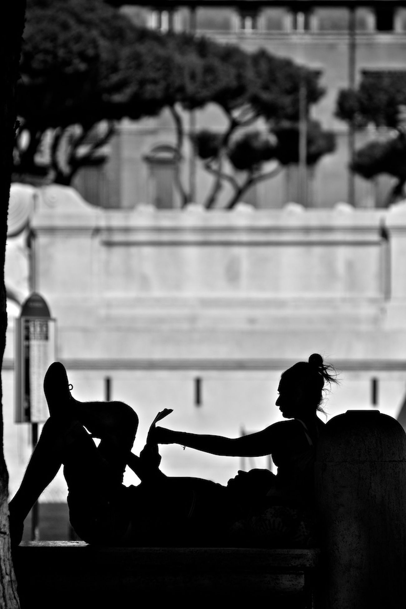 Blackandwhite Silhouette Street Photography Black&white