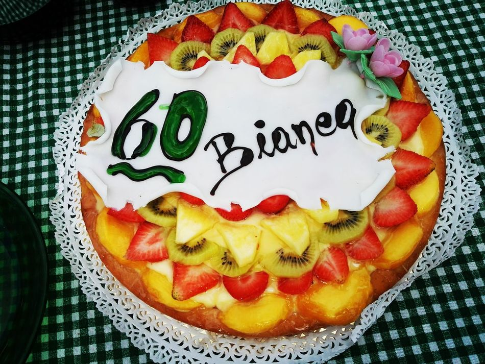Food Text Gourmet Food And Drink Ready-to-eat Close-up Temptation Communication No People Baked Appetizer Serving SizeGarnish birthday Freshness IndulgenceBirthday Cake! 60 Birthday Beautiful 60 Yeah!!! Outdoors My Year My View