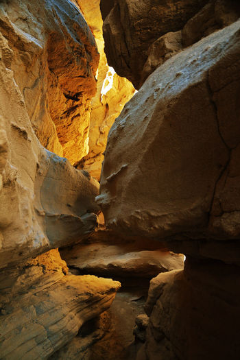The Slot Canyon in the Anza Borrego Desert , California Anza Borrego Desert State Park Lost In The Landscape Beauty In Nature Borrego  Geology Rock - Object Rock Formation Slot Canyon Tranquil Scene