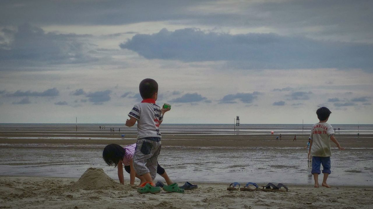 Siblings Beach Sea Sand Males  Child Outdoors Family Playing People Vacations Full Length Friendship Togetherness Men Baby Adult Nature Beauty In Nature Human Body Part Day Siblings Malaysia Sepang Bagan Lalang
