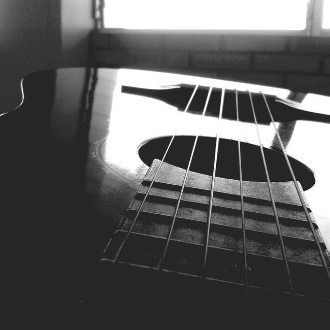 Guitar Guitarra Cuerdas Six Blackandwhite Eyemphotography Photo Wood Instruments Music