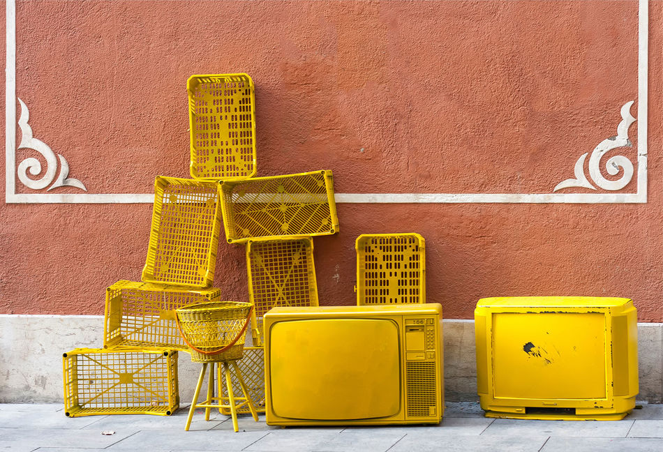 Beautiful stock photos of television, Arranged, Arrangement, Brown, Crate
