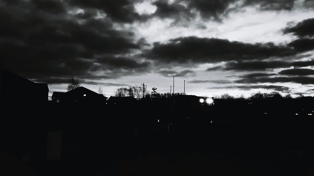 Sky Silhouette Nature No People Cloud - Sky Outdoors Storm Cloud Built Structure Building Exterior Night