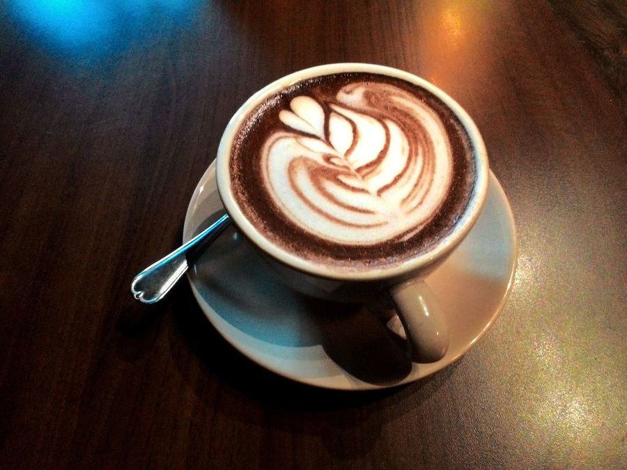 Coffee - Drink Coffee Cup Food And Drink Refreshment Cappuccino Table Drink Indoors  Frothy Drink High Angle View No People Latte Close-up Freshness Healthy Eating Day Ready-to-eat Froth Art