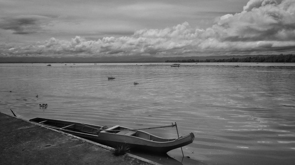 Solemnity Sea Water Cloud - Sky Sky Outdoors Nature Nautical Vessel Beauty In Nature EyeEm Best Shot S - Sunsets + Sunrise Travel Travel Destinations EyeemPhilippines Lines And Patterns Eyeem Philippines Black And White Collection  Black & White Photography EyeEm Travel Photography Tranquility Scenics Vacation Destination Architecture Built Structure