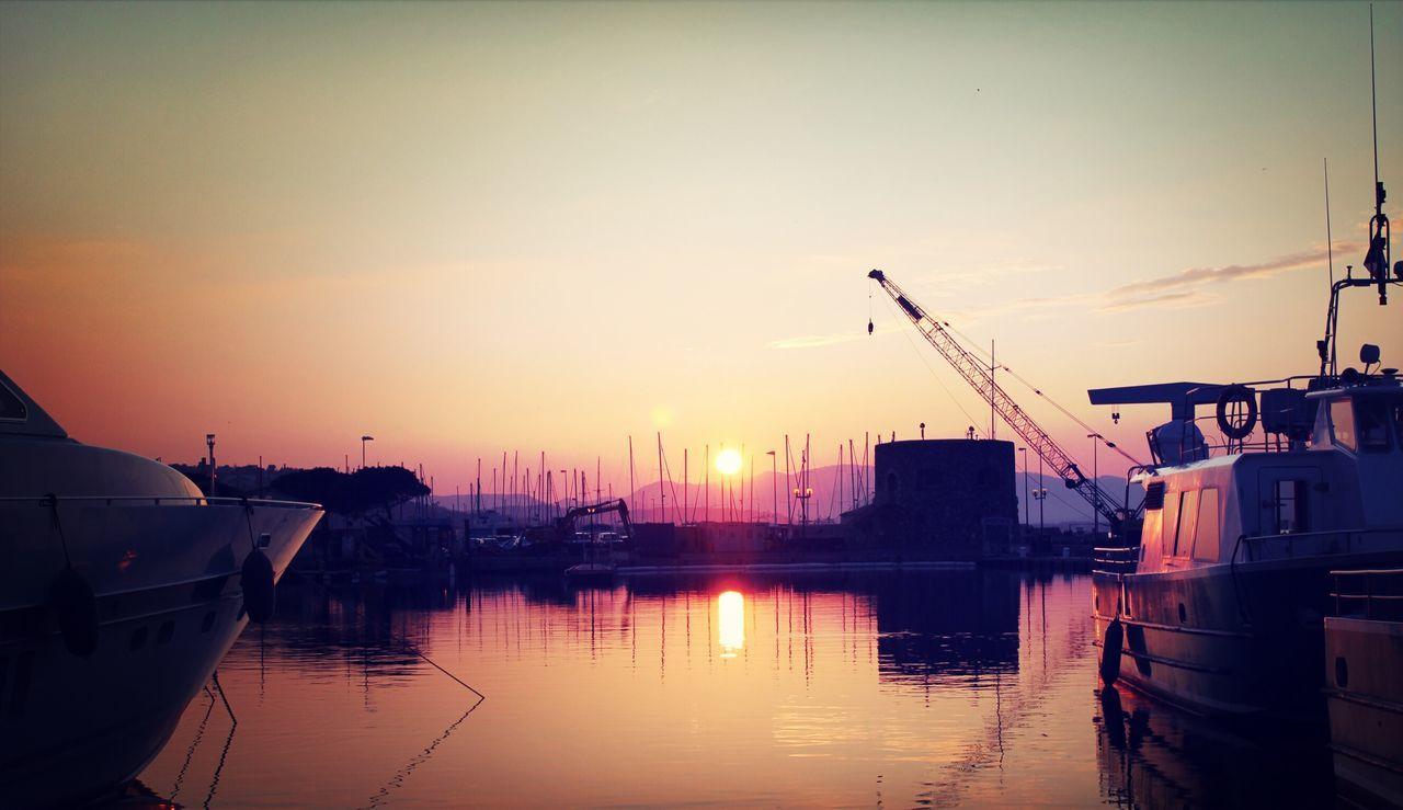 Sea View Sea Port Sunset